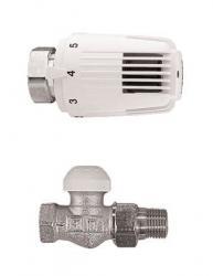Termostatski ventil s termostatskom glavom, ravni 1/2