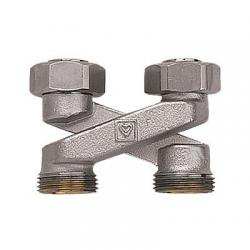 H-ventil za radijator, ravni, križni 3/4