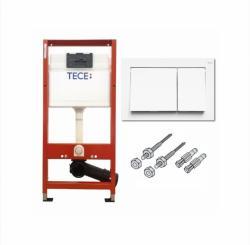 TECE BASE Modul za WC s tipkom 2/1 bijelom i pričvrsnim setom