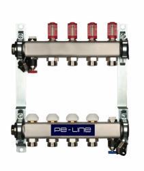 PE-LINE TOP Razdjelnik za podno grijanje, 6 krugova, 6L/min 1''X3/4''