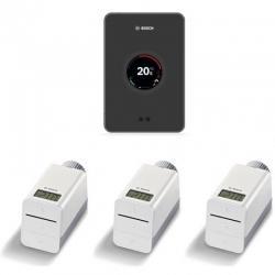 BOSCH EASYCONTROL CT200 B Regulacijski uređaj, WiFi, W-LAN, crni, u setu sa 3 termostata sa bežičnom vezom