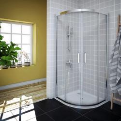 AQUAESTIL SAVANA Polukružna tuš kabina, bijela, prozirno staklo, 80x80, 90x90 i 100x100 cm