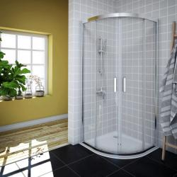 AQUAESTIL SAVANA Polukružna tuš kabina, srebrno, prozirno staklo, 80x80, 90x90 i 100x100 cm