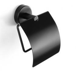SAMCRO UNO Držač toaletnog papira s poklopcem, mat crni
