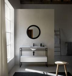 POALGI LITOS samostojeća baza s dvostrukim umivaonikom, 120 cm