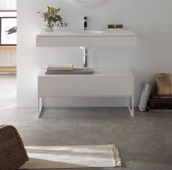 POALGI LITOS baza od dva segmenta s dvostrukim umivaonikom, 120 cm