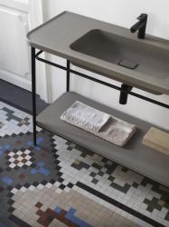 POALGI SILEA Samostojeća baza s umivaonikom i policom, 100 cm