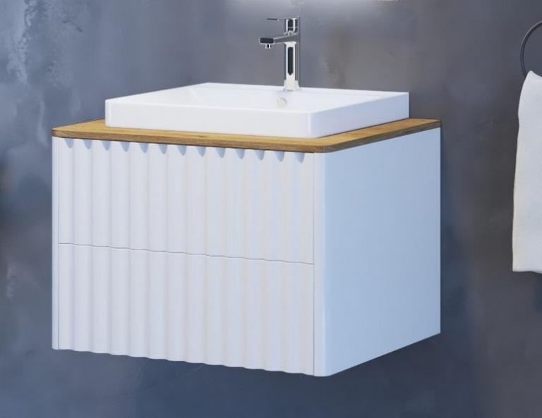 ARMAL AMARILIS, 65x53,5x45,4 cm, viseća kupaonska baza s umivaonikom, dvije ladice
