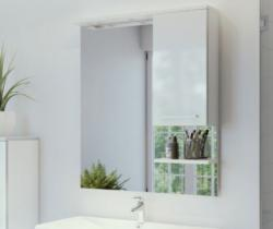 ARMAL NEVA, 65/75/85x18,3x98 cm, ogledalo s ormarićem desno, bijela sjaj