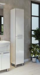 ARMAL NEVA, 30x35x190 cm, stojeći kupaonski ormarić, 2 vrata, bijela sjaj
