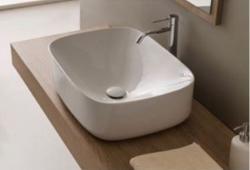 SCARABEO MOON nasadni umivaonik, 70/42x42x18 cm, bez preljeva, bijeli