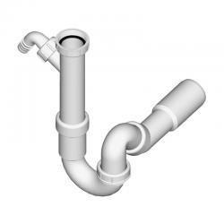 LIV Sifon za sudoper, 1/1, PVC, bez izljevnog ventila, s priključkom za perilicu