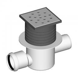 LIV Sifon podni, horizontalni, protočni, 100x100 mm