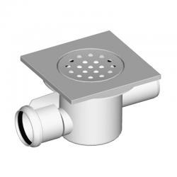 LIV Sifon podni, horizontalni, protočni, 150x150 mm
