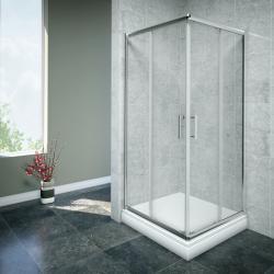 AQUAESTIL SAVANA Tuš vrata, klizna, silver/prozirna, razne dimenzije