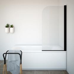 AQUAESTIL TITAN I 75,5-77,5x140 cm Paravan za kadu, crno/prozirno, UNI