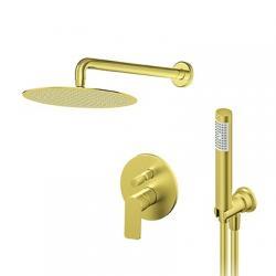 ROSAN S2 GOLD Pod¾bukni tu¹ sistem za zidnim i ruènim tu¹em, okrugla ru¾a 225 mm