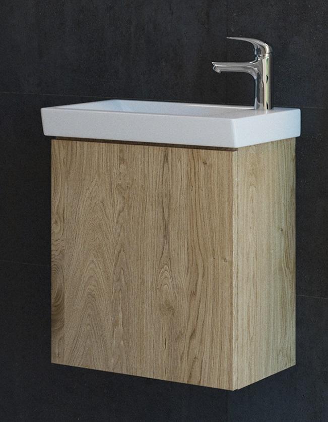 ARMAL PICCOLO Kupaonska baza s umivaonikom, boja hrast stari