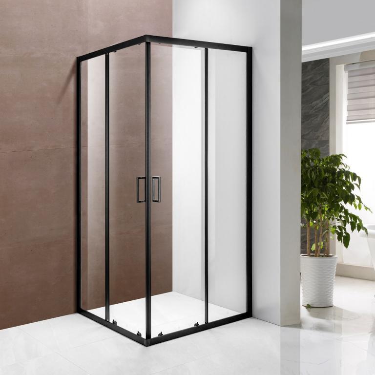 SAMCRO BLACK Tu¹ kabina kvadratna,transparent, crno, 90x90x190 cm
