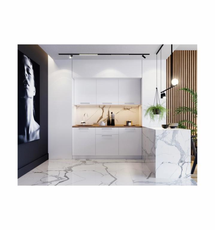 NORD SMILEY blok kuhinja, 1,80 m, bijela/bijela