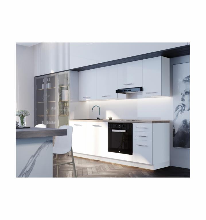 NORD Jolly blok kuhinja, 2,20 m, bijela/bijela