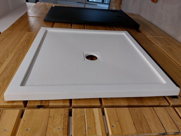 AQG STRUCTO Tu¹ kada, bijela, 90x90 cm